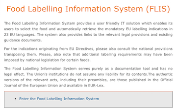 EU new food labeling tool
