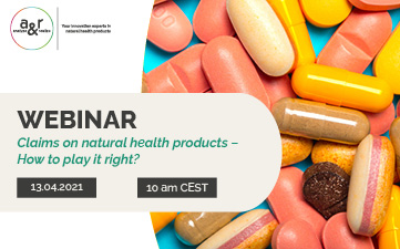 Our next webinar: Claims on natural health products – How to play it right?